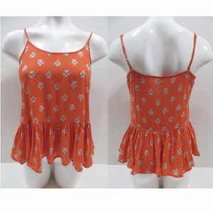 Old Navy top Small sleeveless floral damask peplum